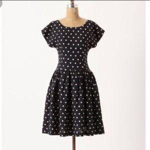 Anthropologie Dresses - NWT Anthropologie Polka Dot Linen Dress 12